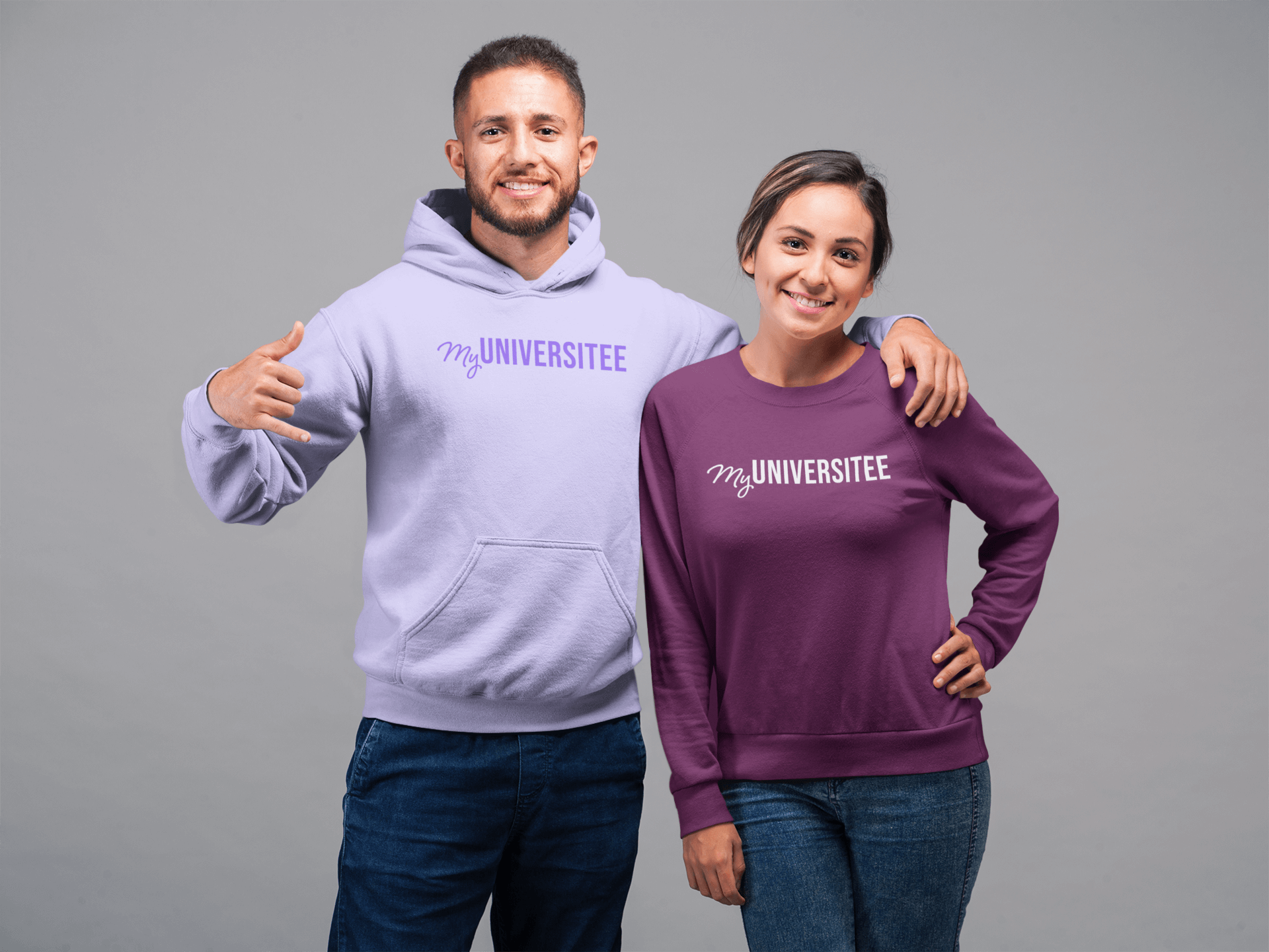 mockup-of-a-woman-wearing-a-sweatshirt-and-a-man-wearing-a-hoodie-with-an-arm-over-her-shoulder-22352